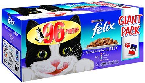 Felix Nourriture Humide pour Chat - Assortiment de 96 x 100 g