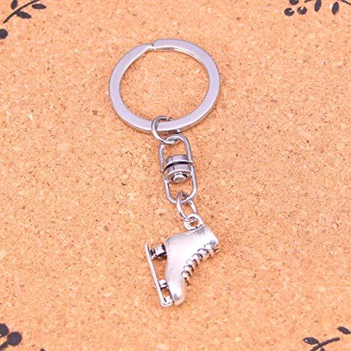 HXYKLM Sieraden Accessoires van Moda skischoenen met zilveren hanger sleutelhanger voor dames heren geschenken sleutelhanger