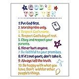 Ten Commandments Wall Decor Unframed Bible...