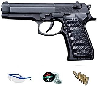 Pack Pistola de Aire comprimido (CO2) y balines de Acero (perdigones BBS) Calibre 4.5mm. Réplica Beretta 02 Full Metal <3,5J