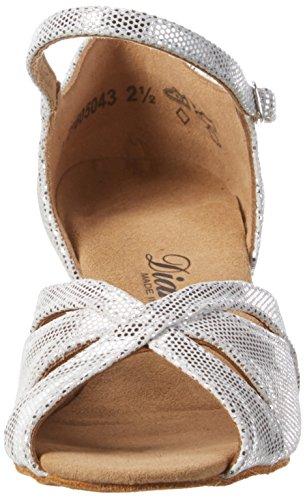 Diamant Damen Tanzschuhe 144-077-246 Standard & Latein, Silber (Weiß-Silber), 42 EU - 2