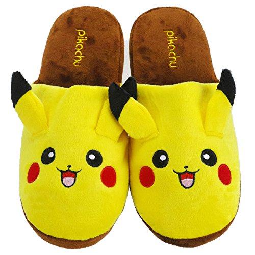 KeySmart Pokemon Plüsch Pikachu Hausschuhe