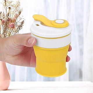 Siliconen intrekbare theemok Waterbeker voor cola voor op de camping(yellow)