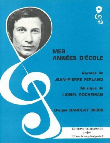 MES ANNEES D\'ECOLE