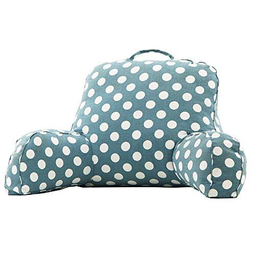 Crazy lin Super Large Comfort Therapy Lesekissen - gefüllt für Komfort und richtige Haltung - abwaschbarer Bezug - Tragegriff - stabile Armstützen - Lesen, Entspannen oder Arbeiten im Bett