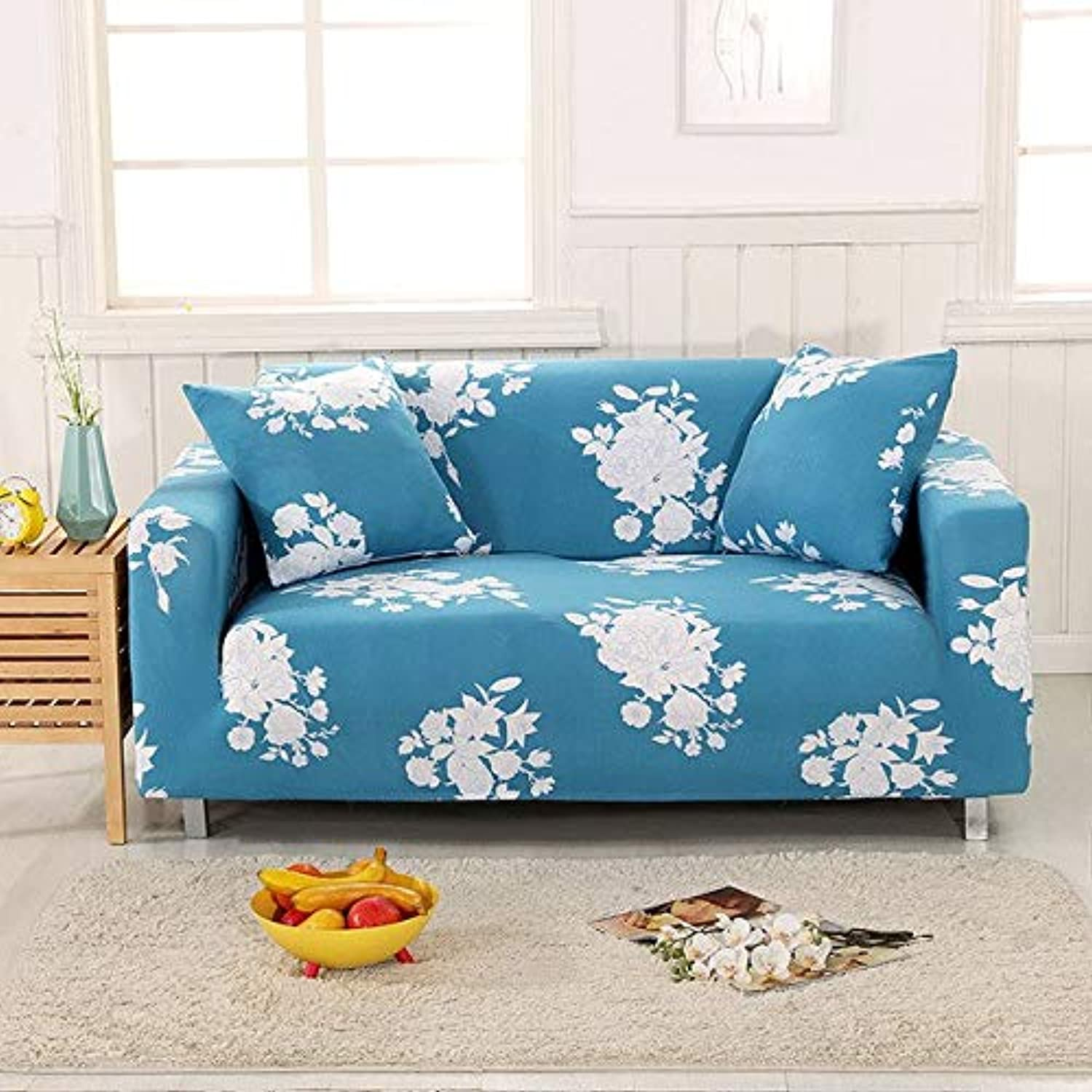 Fashion SofacoverTight Wrap All-Inclusive Slip-Resistant Sofa Sofa Towel Elastic Couch Cover Single Two Three Four-Seater   04, Two-seat