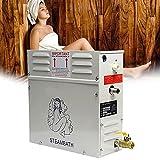 BIWAHumor Generador de Vapor Sauna Control Digital, Ducha Generador de Vapor, Sistema de Ducha Vapor Autodrenante Comercial SPA de Baño con Control Impermeable para Calefacción de Espacios