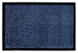andiamo Fußmatte Easy, Farbe:Blau, Größe:90 x 150 cm