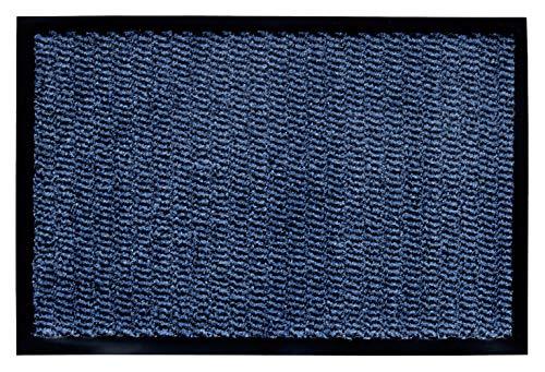 andiamo Schmutzfangmatte, Fußmatte aus Polypropylen – Indoor/Outdoor geeignet - in 60 x 80 cm Blau – 5 mm Höhe