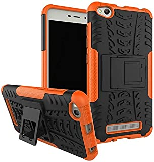 Xiaomi Redmi 4A -Heavy Duty Armor Hybrid ShockProof Hard Back Case Cover -Orange