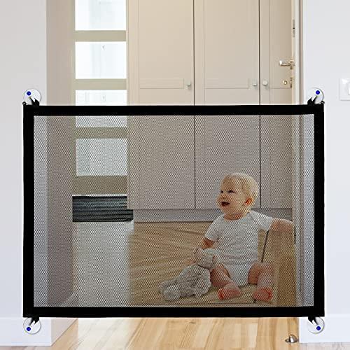 Momcozy Barrera Seguridad para Bebé y Mascota, Ideal para Perros o Gatos, en Escaleras en Interiores y Exteriores, Plegable y Portátil, 100 x 76 CM