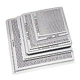 Nrpfell 36 Piezas de Malla de Acero para ReparacióN de PortáTiles de Uso ComúN, Red de EstaaO Reballing BGA, Plantillas de Tarjetas GráFicas, Chip de CPU de Plantilla de Reballing BGA