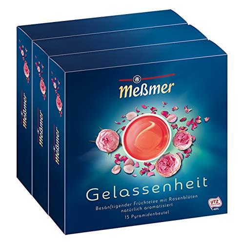 Meßmer Gelassenheit Rosenblüten, 15 Beutel, 37.5 g 3er Pack