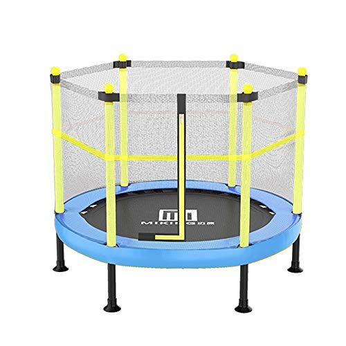LY Rebounder Trampoline for kids with Safety Enclosure ,Indoor or Outdoor Exercise Fitness Trampoline,Parent-child entertainment toys,Max Load 660lbs (Color : Blue, Size : 101x101x120cm)