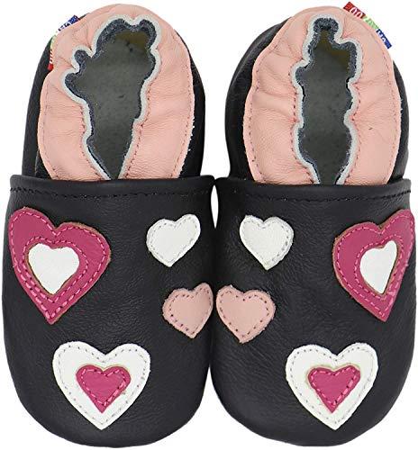 Carozoo pink Hearts Black 12-18m