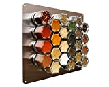 Gneiss Spice Stainless Finish Wall Plate Base for Magnetic Spice Jars, Medium 10x12 Inches (Jars Not Included)