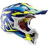 Casco Motocross LS2 MX470 Subverter Nimble Casco Moto Quad off-Road Crash Racing Sportivo Fuoristrada MX Enduro Dirt Pit Bike ECE Helmet, Blu/Giallo/Bianco (S)