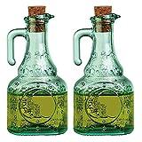 Bormioli Rocco Country Home Helios Glass Oil Cruet, Set of 2