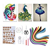 Plyisty DIY Kits Quilling DIY Crafts, 3D Quilling Paper Quilling Tools 14PCS Paper Craft Making Tool Paper Quilling DIY, for Friends