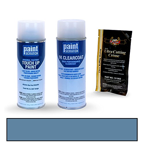 PAINTSCRATCH Touch Up Paint Spray Can Car Scratch Repair Kit - Compatible with 2007 Dodge Ram Truck Atlantic Blue Pearl Metallic (Color Code: PBJ)