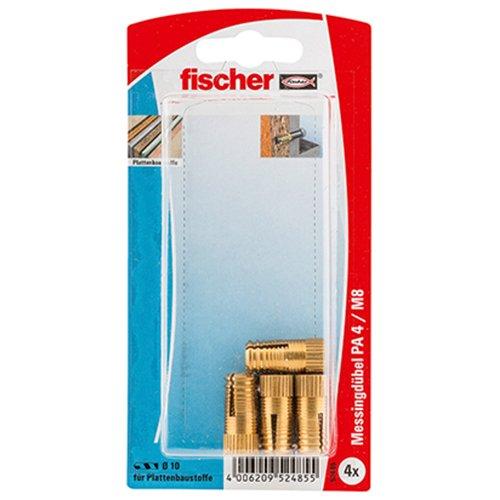 fischer 52485 Messingdübel PA 4 M 8/25 K SB-Karte