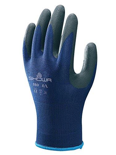 color blanco Showa SHO377-M No.377 F//C Guantes de espuma azul y negro talla M