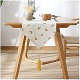 LLZK Moderna Tabella Runners Banana Bed Carino Bandiera Zen TV Cabinet Tea Table Flag (Colore : Banana Pattern, Taglia : 33×80cm)