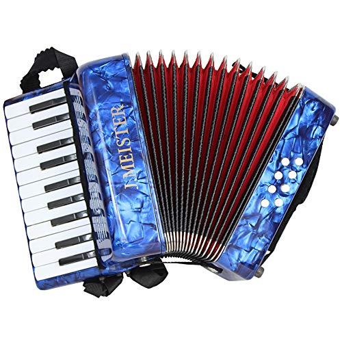 M-zutx Blue 8 Bass Acordeones for niños de 22 teclas Acordeones for piano Acordeón for...