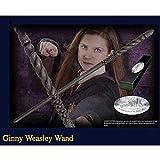 Ginny Weasley 14' Wand Réplica con Ollivander Varita Box, De Halloween y Accesorios de Navidad, Cinematográfico apoyos de la película varitas