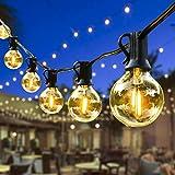 ORAOKO Lichterkette Glühbirnen G40, 15.2M 50 Birnen mit 2 Ersatzbirnen Warmweiß LED Lichterkette Außen Wasserdicht Outdoor Lichterkette für Garten, Bäume, Terrasse, Weihnachten, Hochzeiten, Partys