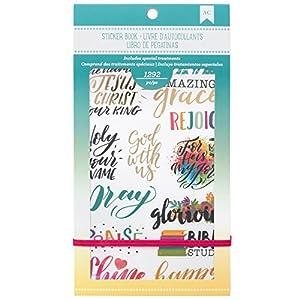 American Crafts 1580 Piece Faith Sticker Book