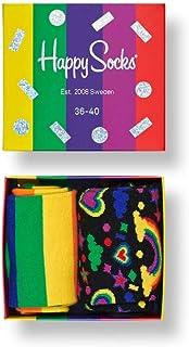 Happy Socks, Calcetines Coloridos y Alegres para Hombre-Mujer Orgullo Gay Caja de Regalo Gift Box 2-pack Algodón -Multicolor -36-40, 41-46