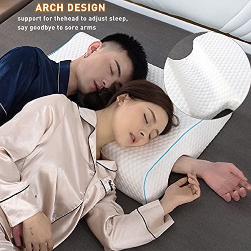 Couple Pillow Memory Foam Pillow Cuddle Pillow 2021 New Version Breathable Arm Rest Pressure Pillow for Couples Sleeping【Cube Right】