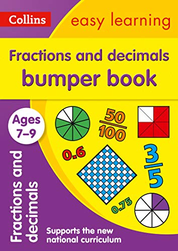 Fractions & Decimals Bumper Book Ages 7-9: Prepare for school with easy home learning (Collins Easy Learning KS2) (English Edition)