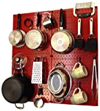 Wall Control Kitchen Pegboard Organizer Pots and Pans Pegboard Pack...