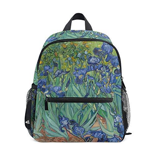 Mochila para niños y niñas Mini Mochila Bolsa de Viaje con Pecho Clip Art Pintura Flor de jardín