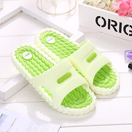 B/H Fitness Sandals,Anti-slip slippers in the bathroom-Green 15_UK5-UK5.5,Pool Shoes Bathroom Water Shoes