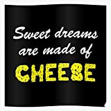 Tranglunar Cheesy 80S Wordplay Cheese Spoof Puns 1980S Parody Impressive Posters for Room Decoration Printed with The Latest Modern Technology on semi-Glossy Paper Background