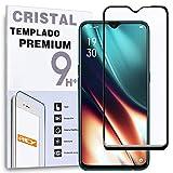 REY Protector de Pantalla Curvo para OPPO K7 5G, Negro, Cristal Vidrio Templado Premium, 3D / 4D / 5D, Anti Roturas