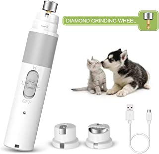 LEMBO DIRECT Nail Grinder, Dog Nail Clippers, Electric Dog Nail Trimmer Clipper Gentle - Portable & Rechargeable Painless Paws Grinder Grooming, Trimming, Smoothing, Shaping for Small Large Cats Dogs