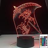 Anime Soul Eater Maka Albarn figura niñas 3D LED luz de noche lámpara de mesa decoración de noche regalo para niños