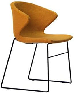 YUMUO Silla de Comedor de diseño Moderno Sillas de salón Retro Premuim Metal y PU para Cocina de Comedor de salón de Oficina (Color: Azul)