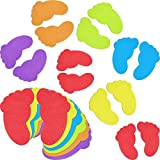 48 Pieces Colorful Feet Carpet Markers Foot-Shaped Floor Markers for Classroom Home,7 Inch...