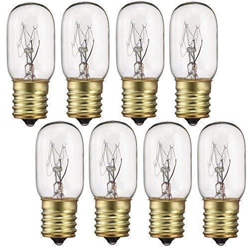 40 Watt Appliance Light Bulb, T8 Tubular Incandescen Light Bulbs, Microwave Oven Bulb, E17 Indicator Intermediate Base Light Bulb, Dimmable - Warm Whte Glow, 8 Pack