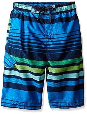 Kanu Surf Boys' Big Quick Dry UPF 50+ Beach Swim Trunk, Echo Blue, Large (14/16)