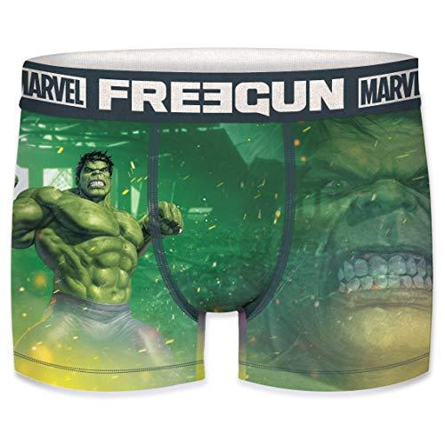 FREEGUN Boxershorts Herren Marvel Avengers Hulk (S, Hulk)