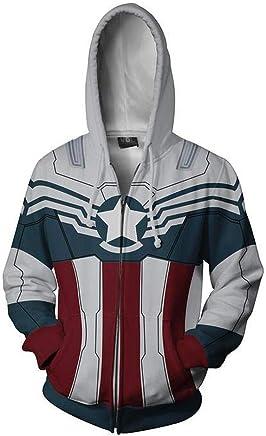 Vêtements et accessoires Nouveau Bucky Sweat à Capuche Hiver Soldat Zipper Sweat à Capuche Sweat-shirt Cosplay Avenger Veste