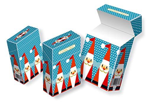 Weihnachtliche Zigarettenschachtel-Hülle slipp overall Motiv: Nikoläuse/Weihnachtsmänner | kompletter Überzieher aus Karton für L-Schachteln (097 Nikolaus, 3 Stück)