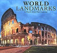 2020 ワールドランドマーク フルサイズ 壁カレンダー 16か月
