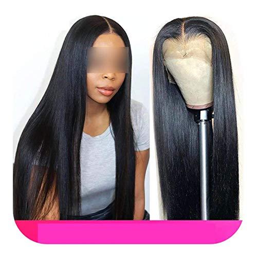 PJPPJH Perruques pour Femmes Cheveux Humains, 13X4 Avant de Lacet de Cheveux Humains Droite en Dentelle Frontale Frontale en Dentelle avec des Cheveux